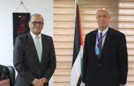 السفير دياب اللوح يستقبل نظيره التونسي في مصر