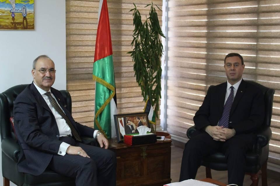 السفير دياب اللوح يلتقي نظيره العراقي في مصر