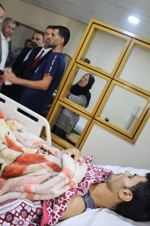 سفارة فلسطين بالقاهرة تعود المرضى والجرحى الفلسطينيين في مستشفى الهرم التخصصي