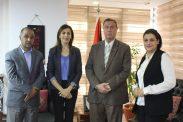 السفير دياب اللوح يستقبل وفد فلسطين المشارك في اجتماع خبراء الاعلام العرب