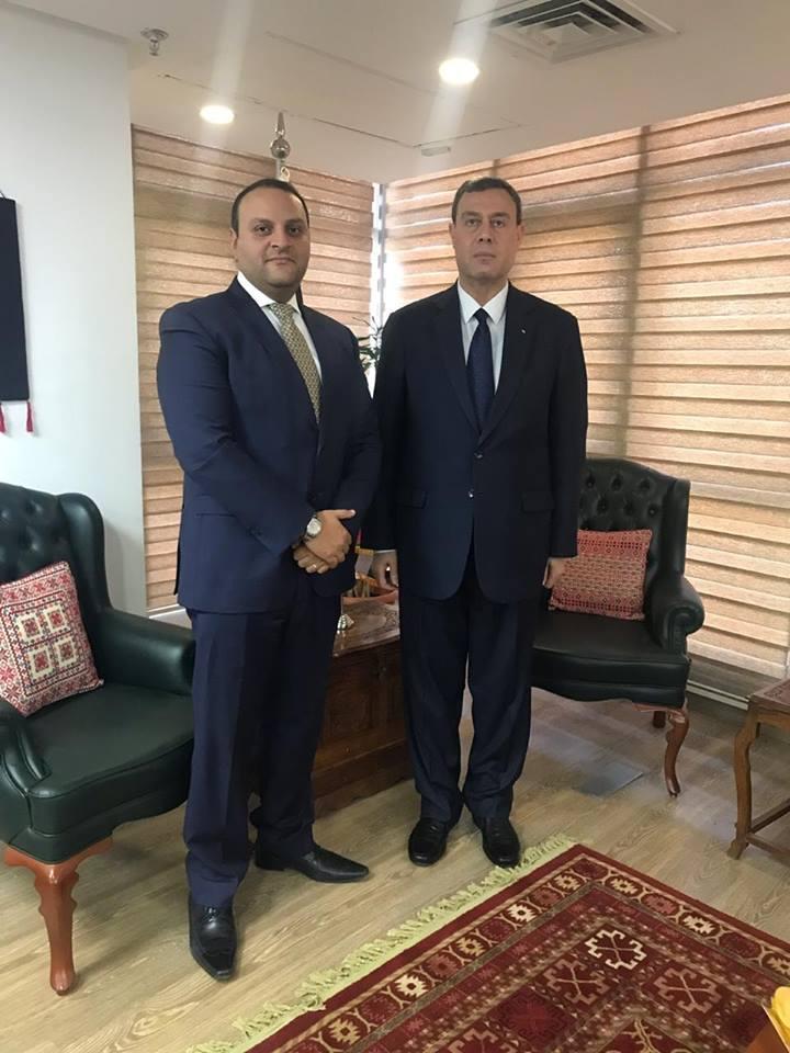 الرئيس السيسي ينيب أمين الرئاسة المصرية لتهنئة سفارة فلسطين بعيد الاستقلال