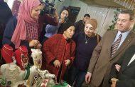السفير دياب اللوح يفتتح البازار الخيري الفلسطيني السنوي بالقاهرة
