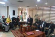 سفير فلسطين بالقاهرة يستقبل وفد اتحاد الكتاب