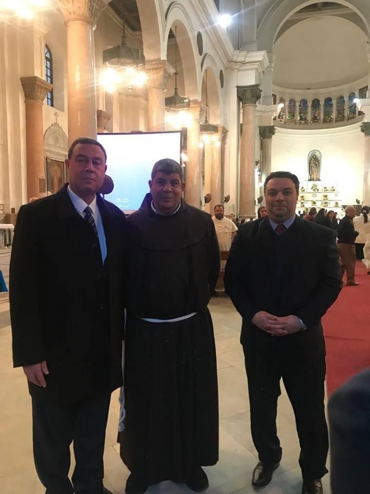 سفير فلسطين بالقاهرة يحضر قداس الاحتفال بالذكرى المئوية الثامنة لمقابلة القديس فرنسيس