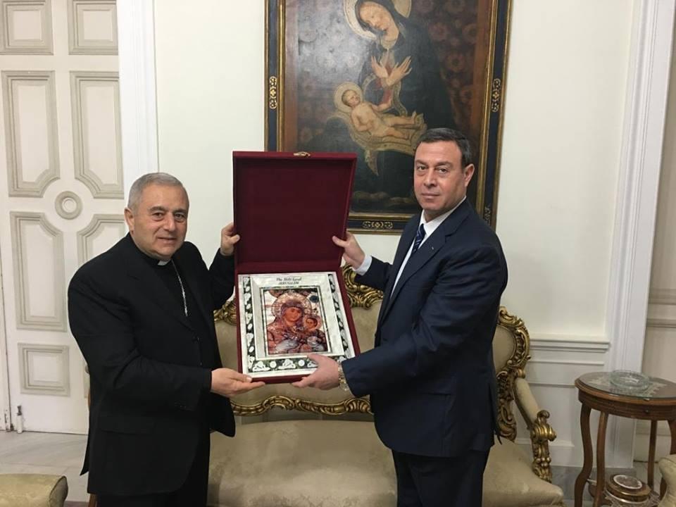*السفير دياب اللوح يلتقي نظيره الفاتيكاني المطران برونو موزارو*