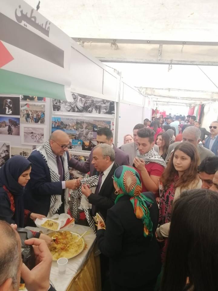 فلسطين تشارك في مهرجان الوافدين السنوي لكلية الاقتصاد والعلوم السياسية بجامعة القاهرة