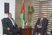 السفير دياب اللوح يستقبل الدكتور مازن شامية خلال زيارة عمل في القاهرة
