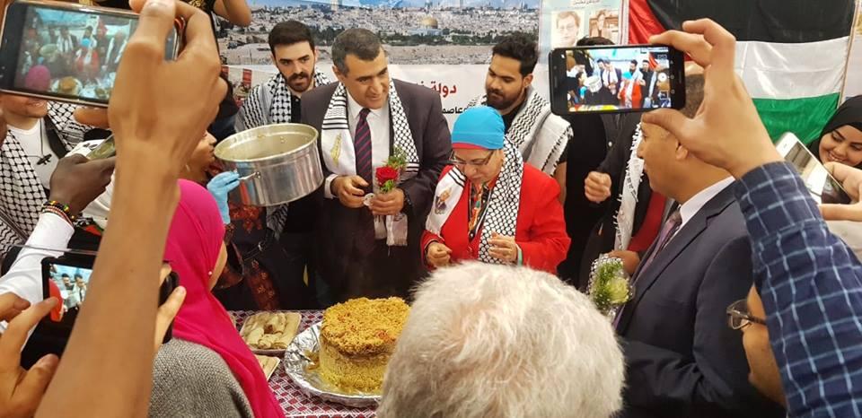 فلسطين تشارك في مهرجان يوم الشعوب بكلية الهندسة بجامعة القاهرة