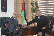 السفير دياب اللوح يستقبل الدكتور نبيل شعث
