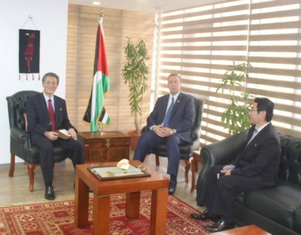 السفير دياب اللوح يلتقي نظيره سفير جمهورية كوريا الديمقراطية الشعبية بالقاهرة