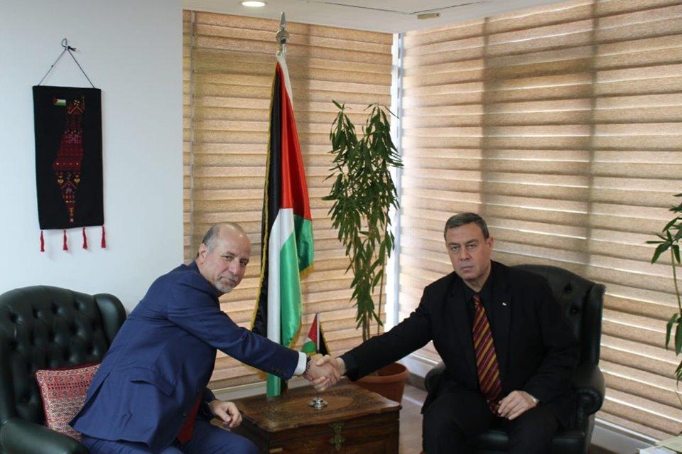 *السفير دياب اللوح يستقبل مدير صندوق الأمم المتحدة للسكان بالقاهرة*