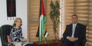 السفير دياب اللوح يلتقي نظيرته البلجيكية بالقاهرة