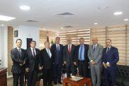 السفير دياب اللوح يستقبل وفد فلسطين المشارك في المؤتمر الدوري الخمسين للاتحادات النوعية المتخصصة