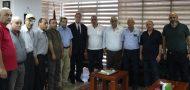 السفير دياب اللوح يستقبل وفد من الاتحاد العام لنقابات عمال فلسطين