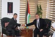 *السفير دياب اللوح يستقبل نظيره الفنزويلي بالقاهرة *