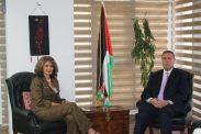 *السفير دياب اللوح يبحث أوضاع اللاجئين الفلسطينيين في مصر مع رئيس مكتب الأونروا بالقاهرة *