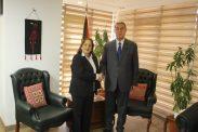 *سفير فلسطين بالقاهرة يستقبل وزيرة الصحة د.مي الكيلة*