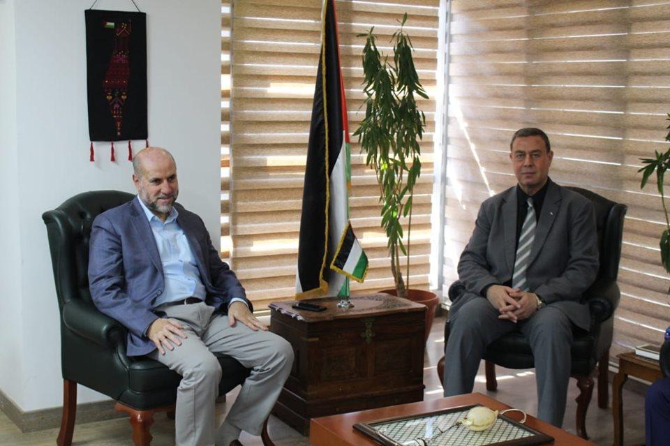 *السفير دياب اللوح يستقبل قاضي قضاة فلسطين محمود الهباش*