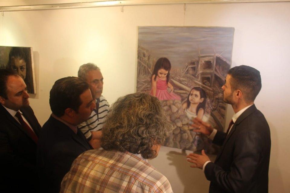 *سفارة فلسطين تفتتح معرض