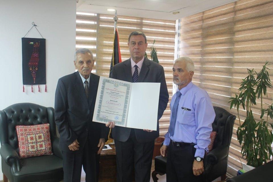 *الاتحاد العربي للمحاربين القدماء يكرم السفير دياب اللوح*