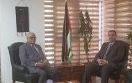 *السفير دياب اللوح يستقبل مندوب اليمن بالجامعة العربية*