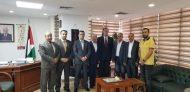 السفير دياب اللوح يستقبل أميني اتحاد المعلمين الفلسطينيين والعرب