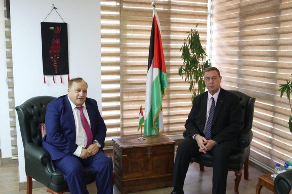 السفير دياب اللوح يستقبل الأمين العام المساعد لاتحاد المحامين العرب