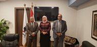 المستشار الثقافي لسفارة فلسطين بالقاهرة يبحث الشواغل الطلابية مع إدارة الوافدين