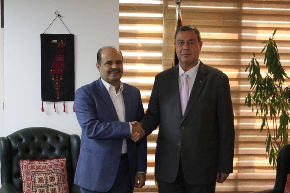 السفير دياب اللوح يستقبل وفد وزارة الإعلام الفلسطينية