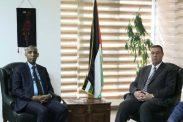 السفير دياب اللوح يستقبل نظيره الجيبوتي في مصر