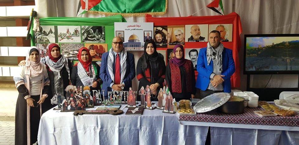 فلسطين تشارك في مهرجان طلابي بكلية التربية في جامعة عين شمس