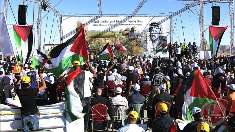 الآلاف من أبناء شعبنا يشاركون في المهرجان الوطني في أريحا رفضا لخطة الضم