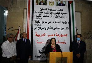 السفير دياب اللوح يشكر مصر رئيساً وحكومة لإرسالها مساعدات طبية للشعب الفلسطيني
