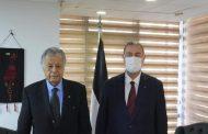 السفير دياب اللوح يستقبل أمين سر المجلس الوطني الفلسطيني السفير محمد صبيح