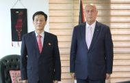 السفير دياب اللوح يلتقي سفير جمهورية كوريا الديمقراطية الشعبية بالقاهرة
