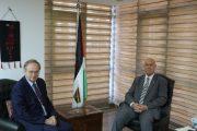 السفير دياب اللوح يلتقي سفير الاتحاد الأوروبي بالقاهرة