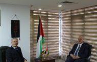 السفير دياب اللوح يستقبل مندوب مصر بالجامعة العربية