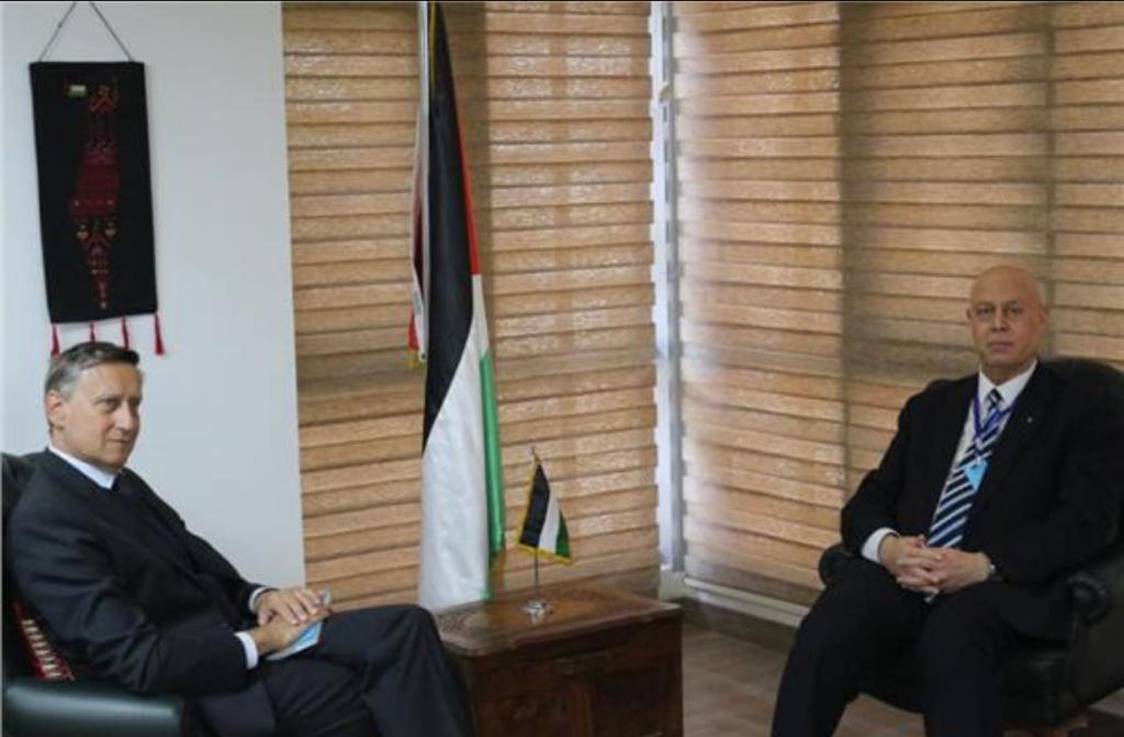 السفير دياب اللوح يلتقى نظيره الألماني في مصر