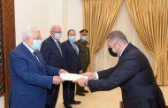 الرئيس يتقبل أوراق اعتماد السفير المصري لدى فلسطين