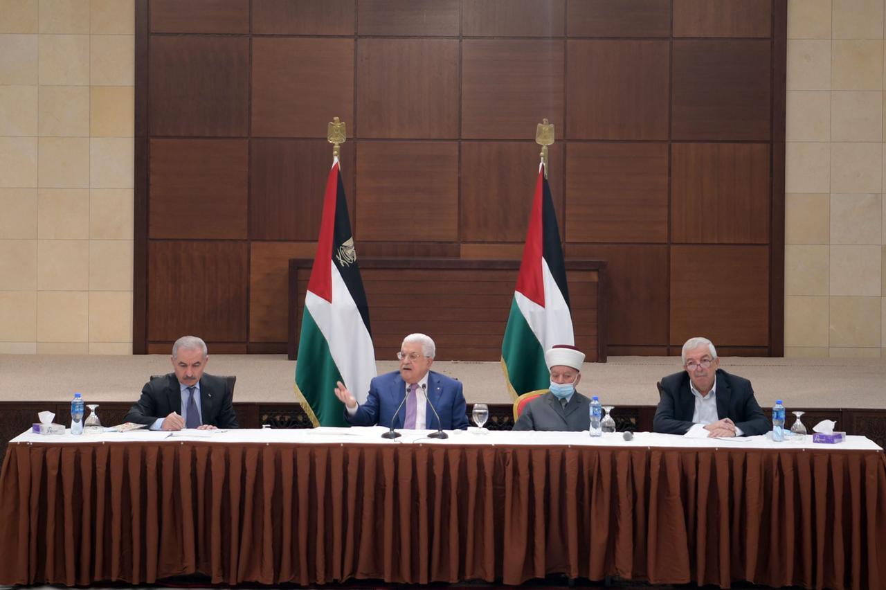 كلمة السيد الرئيس في الجلسة الافتتاحية لاجتماع الفصائل الفلسطينية حول الانتخابات