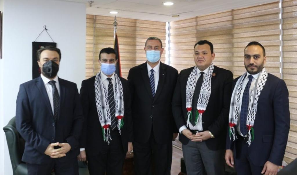 السفير دياب اللوحيطلع برلمانيين مصريين على تطورات العدوان الغاشم في فلسطين