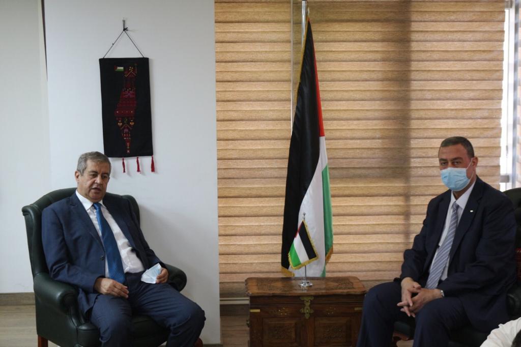 السفير دياب اللوح يلتقي أمين عام مساعد مدير الصندوق العربي للمعونة الفنية للدول الافريقية