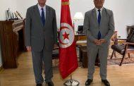 السفير دياب اللوح يلتقي نظيره التونسي في مصر
