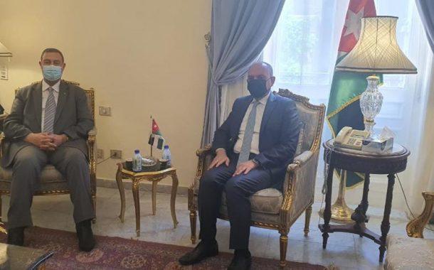 السفير دياب اللوح يلتقي نظيره الأردني في مصر
