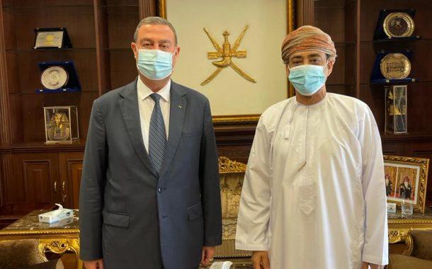 السفير دياب اللوح يلتقي نظيره العماني بالقاهرة