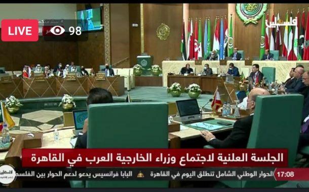 وزراء الخارجية العرب: السلام شرطه زوال الاحتلال وحل الدولتين اساس الاستقرار بالمنطقة