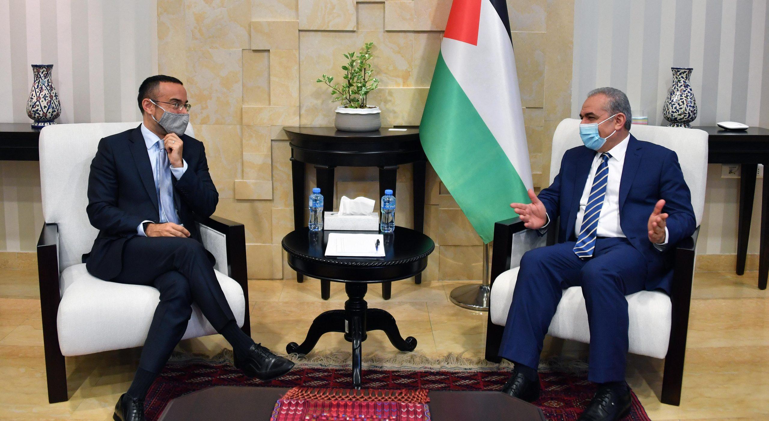 اشتية: لدينا إجماع دولي رافض للضم ونريد اعترافا دوليا بالدولة الفلسطينية