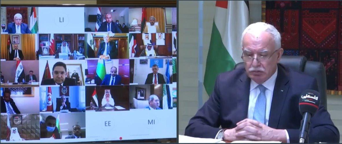 المالكي يطالب وزراء الخارجية العرب بموقف رافض لاتفاق التطبيع الإماراتي الإسرائيلي